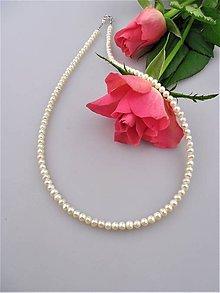 Náhrdelníky - Pravé perly náhrdelník zapínanie striebro Ag925/1000 - 8886614_