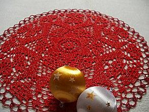 Úžitkový textil - Háčkovaná dečka Vianočná hviezda - 8886420_