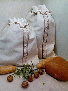 Úžitkový textil - Darčeková sada - ľanové vrecká z ručne tkaného plátna - 8888666_