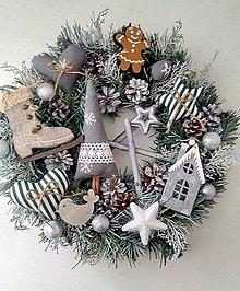 Dekorácie - vianočný venček V - 8886705_