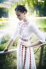 Šaty - Saténové svadobné šaty Slavianka - 8885882_