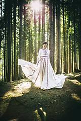 Šaty - Saténové svadobné šaty Slavianka - 8885883_