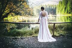 Šaty - Saténové svadobné šaty Slavianka - 8885885_