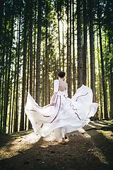 Šaty - Saténové svadobné šaty Slavianka - 8885887_