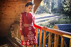 - Krátke červené šaty Slavianka - 8886232_