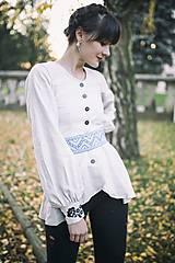 Košele - Ľanová košeľa Slavianka - 8886709_