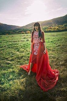 Šaty - Červené úzke šaty Slavianka - 8886333_