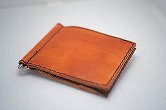 Peňaženky - Pánská kožená peňaženka DOLAROVKA -tmavý ryzák - 8884956_