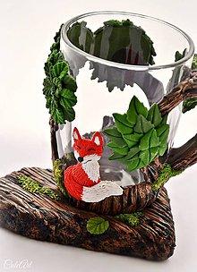 Nádoby - Čaj v lese III. - hrnček na čaj s líškou - 8884942_