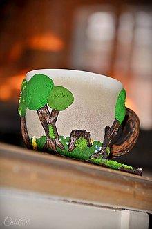 Nádoby - Voňavý les II. - šálka na kávu (labradorit, ametyst, peridot /olivín/, hematit, ruženín) - 8886142_