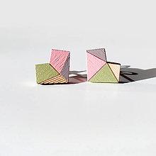 Náušnice - Drevené napichovačky Punčáky