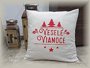 Úžitkový textil - Vianočná obliečka Veselé Vianoce II (natur) - 8888318_
