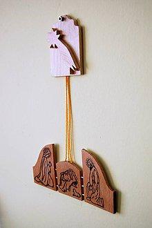 Dekorácie - Dekorácia z dreva - Svätá rodina - Betlehem - 8887846_