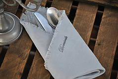 Úžitkový textil - Personalizácia ľanových výrobkov - 8887560_