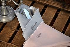 Úžitkový textil - Personalizácia ľanových výrobkov - 8887562_
