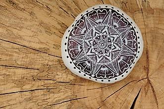 Kresby - Jemná kresba na metalickom kruhu - Na kameni maľované - 8887809_