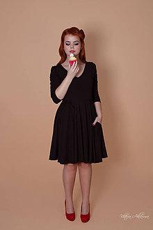Šaty - Bambusové šaty čierne Arabela - 8885992_