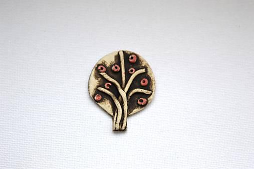 Keramická brošňa Stromček (Jar)
