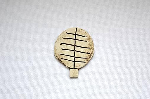 Keramická brošňa Stromček (Simple)
