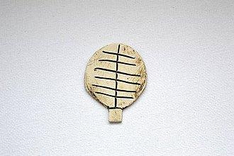 Odznaky/Brošne - Keramická brošňa Stromček (Simple) - 8885082_