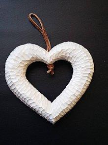 Darčeky pre svadobčanov - Srdce závesné (2 ks v cene) - 8887398_