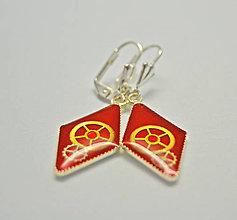 Náušnice - Červené náušnice - 8887459_