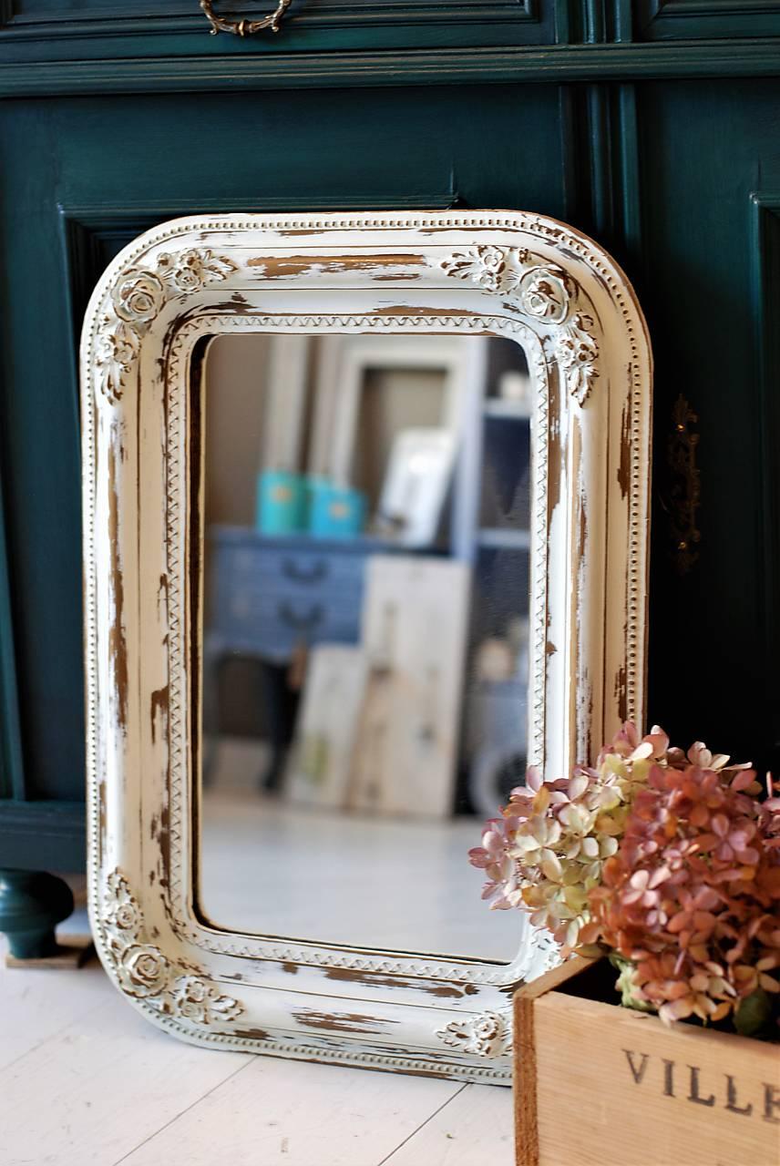 Biele romantické zrkadlo - PREDANÉ