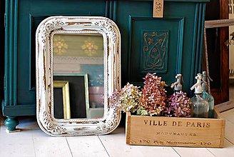 Zrkadlá - Biele romantické zrkadlo - PREDANÉ - 8887247_