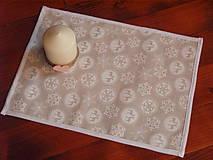 Úžitkový textil - Vianočné prestieranie smotanovo-biele - 8885376_
