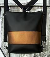 "Batohy - ""backpack 2in1 bronze"" - Batoh & taška cez rameno - 8885618_"