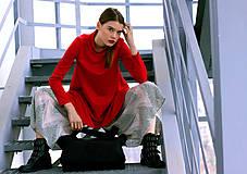 Šaty - Červené uni šaty - 8887014_