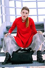Šaty - Červené uni šaty - 8887015_