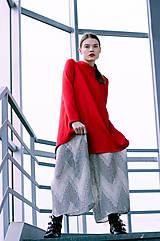 Šaty - Červené uni šaty  - 8887016_