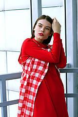 Iné oblečenie - Červeno-biela károvaná vestička - 8887117_