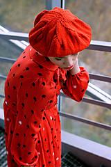 Šaty - Hodvábno-viskózne šaty s palmičkami - 8887137_