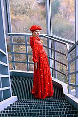 Šaty - Hodvábno-viskózne šaty s palmičkami - 8887139_