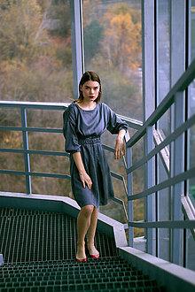 Šaty - Bavlnené šaty s bodkovaním - 8886617_