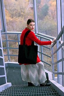 Veľké tašky - Čierna maxi taška - 8887094_