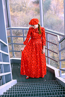 Šaty - Hodvábno-viskózne šaty s palmičkami - 8887136_