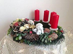 Dekorácie - Adventný vianočný veniec 35cm-zlava - 8885366_
