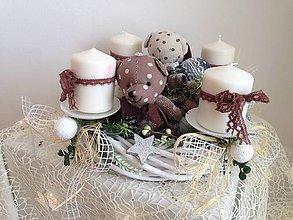 Dekorácie - Adventny vianočný  veniec mackovia-zlava - 8885623_