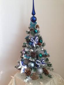 Dekorácie - Vianočný stromček 50cm+20vrch-zlava - 8886981_