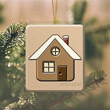 Dekorácie - Vianočná ozdoba ,,čokoládová\