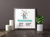 Papiernictvo - Tlačené svadobné oznámenie My dvaja - 8889255_