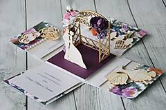 Papiernictvo - Svadobná krabička na peniaze - 8889263_