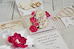 Papiernictvo - Svadobná krabička na peniaze - 8889270_