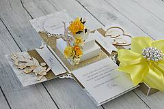 Papiernictvo - Svadobná krabička na peniaze - 8889271_
