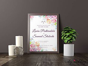 Papiernictvo - Tlačené svadobné oznámenie Vodou maľované - 8889247_