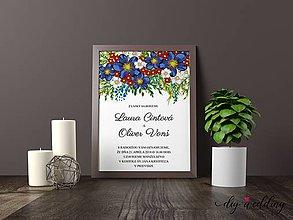 Papiernictvo - Tlačené svadobné oznámenie Na lúke - 8889256_