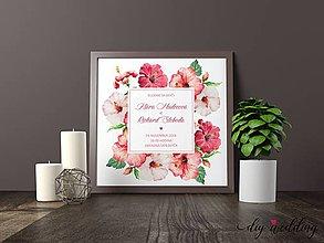 Papiernictvo - Tlačené svadobné oznámenie Ibištek - 8889257_